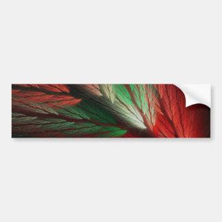 Red & G Abstract Fractal Background Bumper Sticker Car Bumper Sticker