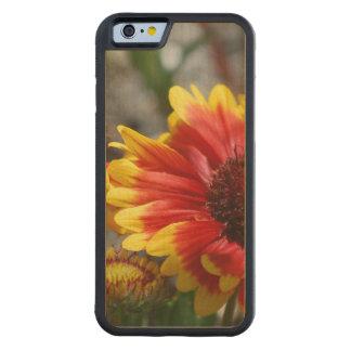 Red Gaillardia Flower Carved® Maple iPhone 6 Bumper