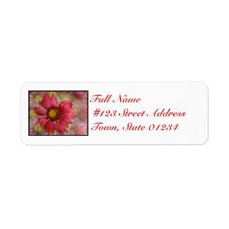Red Gaillardia Mailing Label Return Address Label
