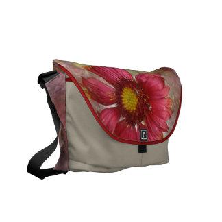 Red Gaillardia Messenger Bag
