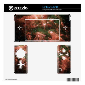 Red Galaxy Skin For 3DS