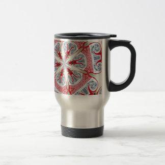 red galaxy travel mug