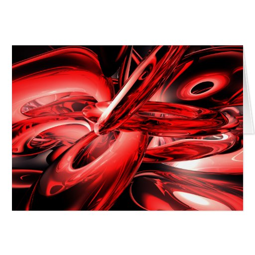 Red Gamma Radiation Abstract Card