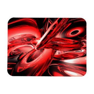 Red Gamma Radiation Abstract Large Magnet