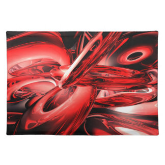 Red Gamma Radiation Abstract Placemats