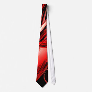 Red Gamma Radiation Abstract Tie