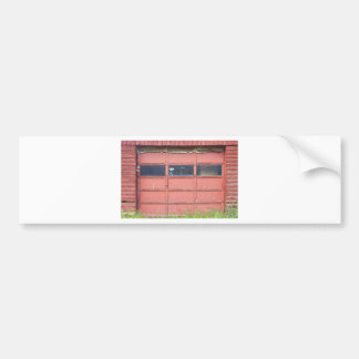 Red Garage Door Bumper Sticker