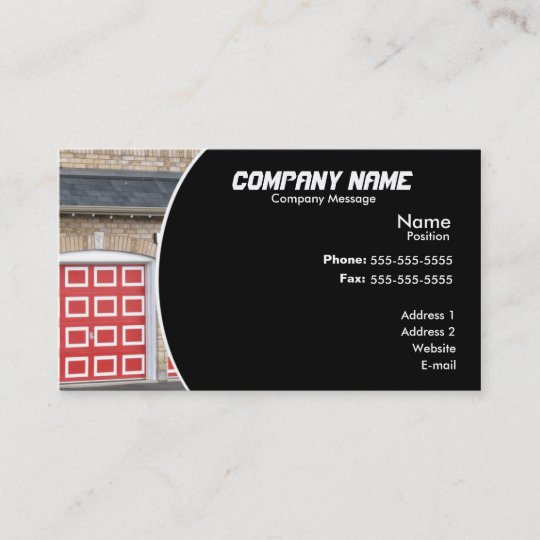Red garage door business card zazzle red garage door business card colourmoves