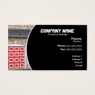 Red Garage Door Business Card