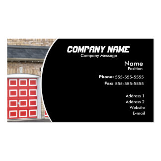 Red Garage Door Double-Sided Standard Business Cards (Pack Of 100)