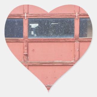 Red Garage Door Heart Sticker