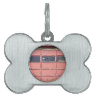 Red Garage Door Pet ID Tags
