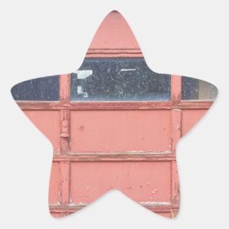 Red Garage Door Star Sticker