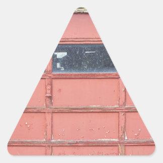 Red Garage Door Triangle Sticker