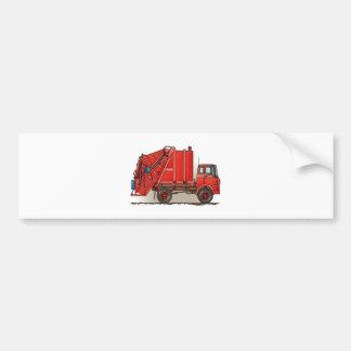 Red Garbage Truck Bumper Sticker