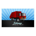 Red Garbage Truck Business Cards