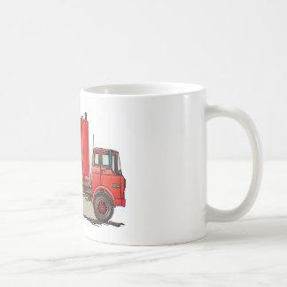 Red Garbage Truck Classic White Coffee Mug