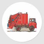 Red Garbage Truck Stickers