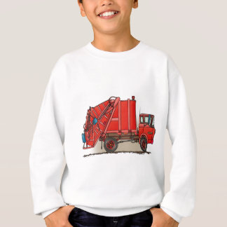 Red Garbage Truck Sweatshirt