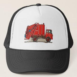 Red Garbage Truck Trucker Hat
