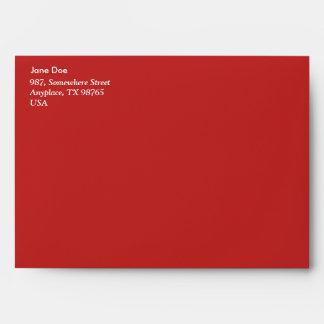 Red garden flowers envelope