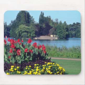 Red Garden In Golden Head Park, Lyon flowers Mouse Pad