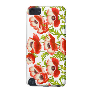 Red Garden Poppy Flowers iPod Touch Case