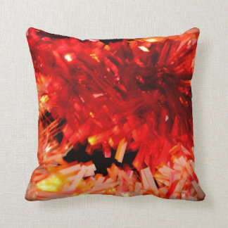 red garland abstract pillow