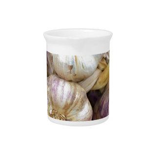 Red garlic drink pitchers