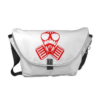 Red Gas Mask Messenger Bag