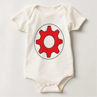 Red Gear Icon Baby Bodysuit