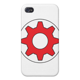 Red Gear Icon Cover For iPhone 4