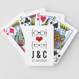 Red Geeky Glasses Playing Cards
