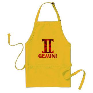 Red Gemini Horoscope Symbol Adult Apron