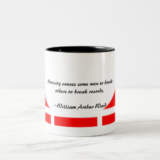 Red Geo Inspirational Two-Tone Coffee Mug
