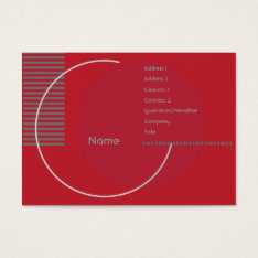 Red Geometric - Chubby Business Card at Zazzle