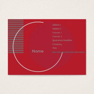 Red Geometric - Chubby Business Card