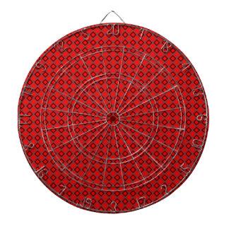 Red Geometric Circle Diamond Dartboard Dart Board