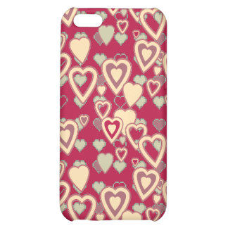 Red Geometric Heart Pattern Speck Case iPhone 5C Case