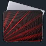 "Red Geometric Lines On Black, Laptop Sleeve<br><div class=""desc"">Red Geometric Lines On Black,  Laptop Sleeve</div>"