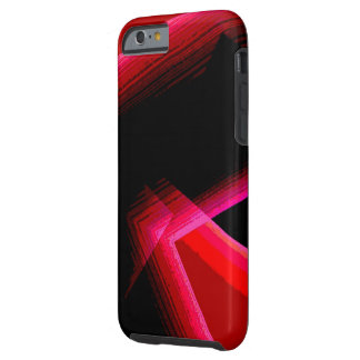 Red Geometric over Black iPhone 6 cover Tough iPhone 6 Case