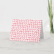 Red Geometric Painted Pattern Congratulations Card