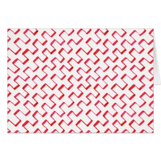 Red Geometric Painted Pattern Congratulations