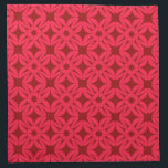 "Red Geometric Pattern Cloth Napkin<br><div class=""desc"">napkin</div>"