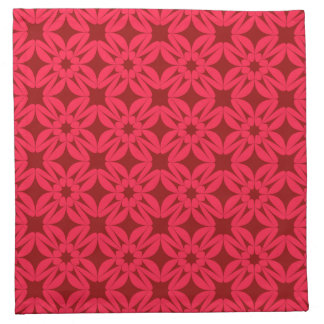 Red Geometric Pattern Cloth Napkin