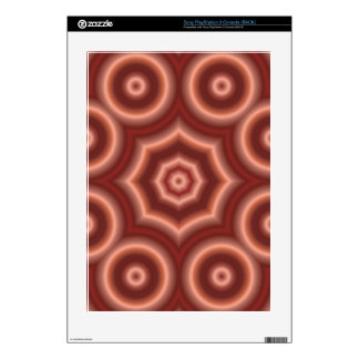Red Geometric pattern Decal For PS3