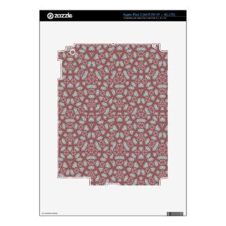 Red Geometric Pattern iPad 3 Decals
