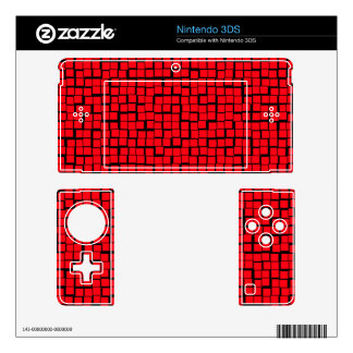 Red Geometric pattern Decals For The 3DS