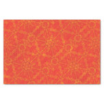 Red Geometric Tile Pattern Tissue Paper