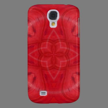 Red geometric wood pattern galaxy s4 cover